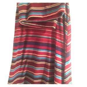 LuLaRoe Azure Skirt XL striped